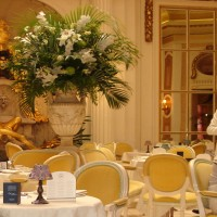 Afternoon Tea at The Ritz, London tables decor flowers
