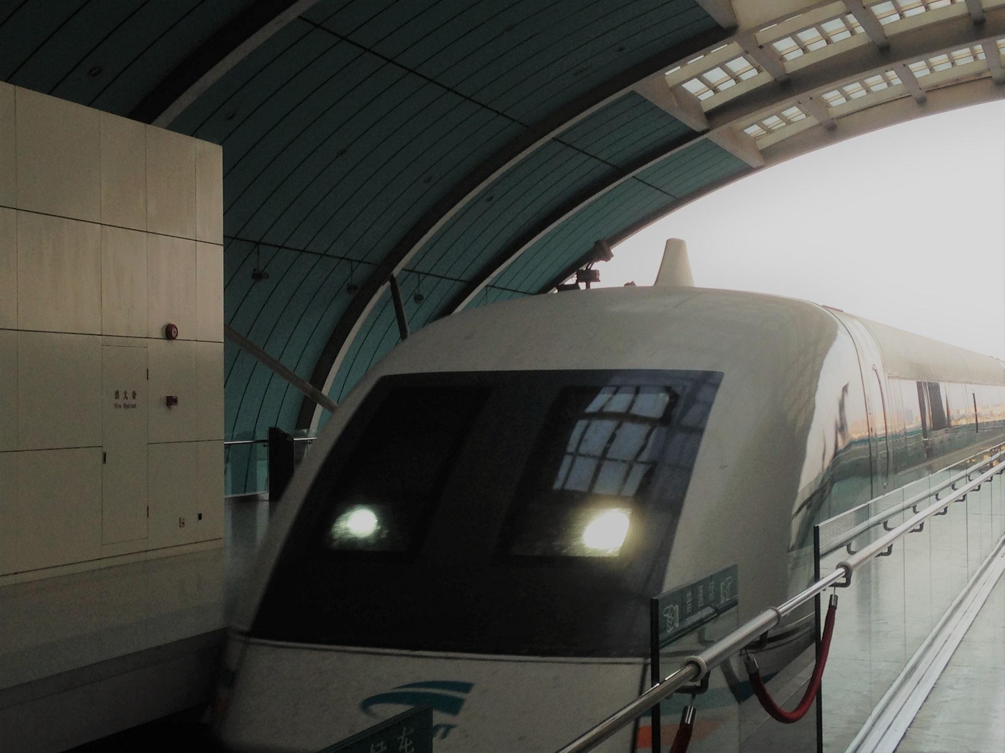 Bullet train Maglev Shanghai