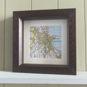 Personalised Map Memories Square Frame - £49.99