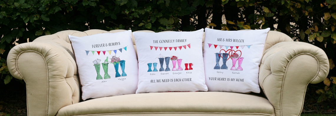 Valentine's Day personalised cushion