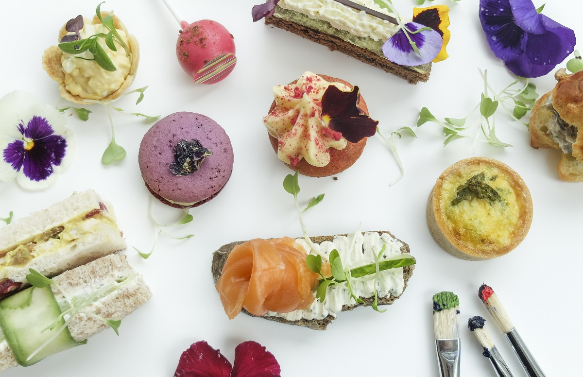 Lancaster London flower afternoon tea