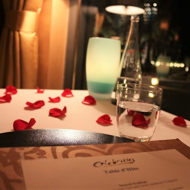 Romantic Dinner at Celebrities, Dubai